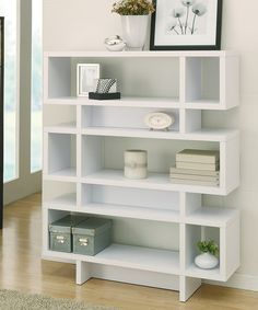 Take a look at the White Gia Lamoda Modern Display Bookcase on #zulily today!