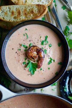 Ina garten's shrimp bisque – a hint of rosemary Shrimp Bisque, Bisque Soup, Bisque Recipe, Chowder Recipe, Ina Garten Shrimp, Soup Recipes, Cooking Recipes, Wing Recipes, Shrimp Recipes