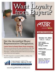 Accredited Buyer Representative #abr, #Buyer, #realestate, #education, #REALTOR