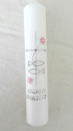 Weiteres - KERZE TAUFKERZE FISCHE KONFIRMATION TAUFE 26x5 cm - ein Designerstück von festliche-karten-und-mehr bei DaWanda