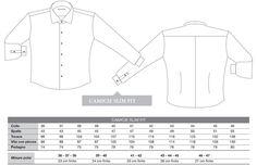Tabella delle misure fondamentali di una camicia sartoriale Santa Margherita 7 slim fit