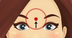 What happens if you massage this point on your forehead