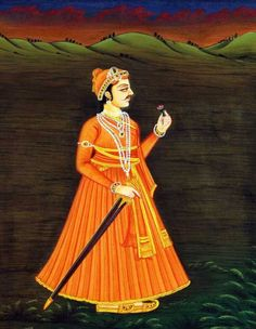 The Maharajah Balaputra who ascended to the throne in 725 (28 BC)