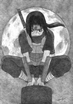 Naruto Drawings Easy, Naruto Sketch Drawing, Anime Drawings Sketches, Anime Sketch, Cool Drawings, Itachi Uchiha, Naruto Shippuden Sasuke, Anime Naruto, Naruto Art