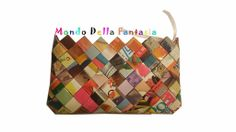 "Portafoglio ""Color"" fatto a mano, by Mondo della Fantasia, 12,00 € su misshobby.com Louis Vuitton Damier, Euro, Pattern, Bags, Accessories, Fantasy, Handbags, Patterns, Model"