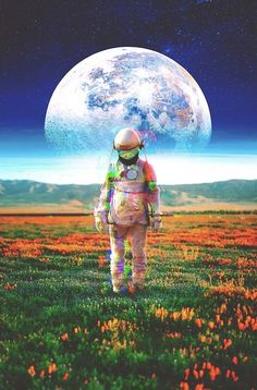Astronaut Illustration, Space Phone Wallpaper, Alien Drawings, Art Hub, Islamic Paintings, Retro Futuristic, Surreal Art, Surreal Collage, Thing 1