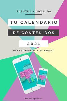 Tu calendario estratégico en redes sociales 2021. Este año, planifica y disfruta de tu comunicación. Si el ¿qué publico hoy? se te repite más que el salmorejo de tu suegra, este calendario estratégico para publicar en Instagram y Pinterest es lo que estabas esperando. Este 2021 va a ser el año en que planifiques con cabeza, enfocada en lo que quieres. Sin estrés. Y disfrutando de tu comunicación. Consigue tu plantilla gratis.