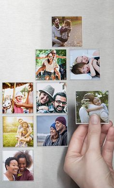 These cute magnets can be made with photos from your Instagram, camera-roll or desktop//