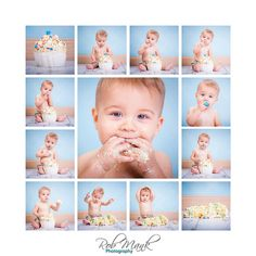 1st Birthday Cake smash pictures! @Carrie Carpenter we should do this and make a collage.
