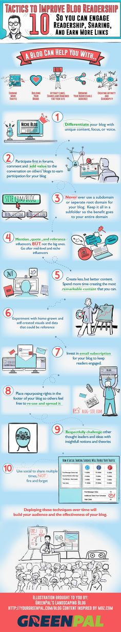 Infographic: 10 Tactics to Improve Blog Readership #infographic