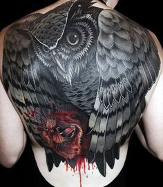 96 Best Best Animal Tattoo Designs, Animal Tattoo Designs Owl with Kill Back Full Tattoo, 24 Best Animal Tattoo Drawings Images In Animal Tattoo Designs Single Line Sheep, Classic Animal Tattoos Designs. Owl Tattoo Back, Simple Owl Tattoo, Black Owl Tattoo, Owl Tattoo Chest, Mens Owl Tattoo, Colorful Owl Tattoo, Full Back Tattoos, Tattoo Owl, Wild Tattoo
