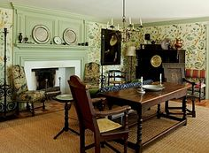 Robert Couturier--    A room from his Litchfield County home which appeared in Annie Kelly's book LITCHFIELD STYLE.