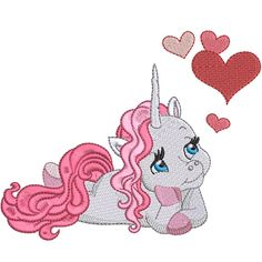 Valentine Unicorns embroidery design collection is digitised for the inch hoop x and is available in ART DST EXP HUS JEF PES VIP and XXX formats. Unicorns, Vip, Embroidery Designs, Stitches, Colors, Collection, Stitching, Bruges Lace, Unicorn