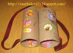 Turn 2 toilet paper tubes into a pair of binoculars kids go gaga over.   Materials:    2 toilet paper rolls  decorating materials like st...