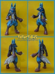 Paperpokés- Pokémon Papercrafts: M-LUCARIO