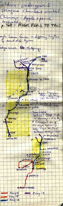 High road to Taos from Hand Drawn Map Association