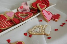 Galletas decoradas para San Valentín