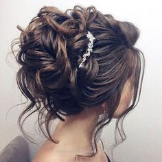Kids Hair Styles - Idée Tendance Coupe & Coiffure Femme 2018 : Description nice Coiffure de mariage 2017 – Beautiful updo wedding hairstyle for long hair perfect for any wedding venue – T… Medium Hair Styles, Short Hair Styles, Updo Styles, Medium Hairs, Peinado Updo, Wedding Hair Inspiration, Wedding Ideas, Wedding Reception, Wedding Vows