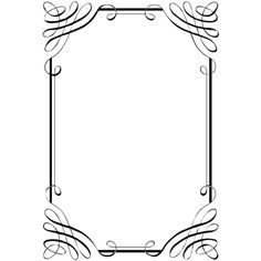 Free vintage clip art images Calligraphic frames and borders ❤ liked on Polyvore featuring frames