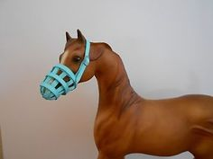 blue breyer horse grassmask