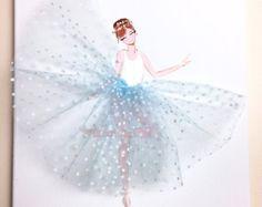 Bailarina infantil pared arte decoración de por MyModernArt en Etsy