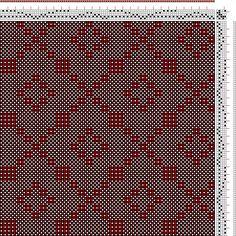 Hand Weaving Draft: No 15. Cross and Diamond Diaper., J. and R. Bronson, 5S, 5T - Handweaving.net Hand Weaving and Draft Archive