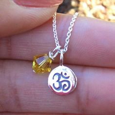 Om ॐ Necklace | www.cutestjewelry.com | starting at $32