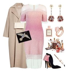 """Pink delight"" by oksiniya ❤ liked on Polyvore featuring Rejina Pyo, Pamella Roland, Lulu Frost, Remington, From St Xavier, Gucci, Michael Kors, Pink, dress and coat"