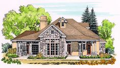 Rugged Country Home Plan - 12525RS | Cottage, Country, Hill Country, 1st Floor Master Suite, Den-Office-Library-Study, Jack