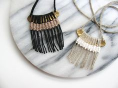 Woven Arc Necklace by karibreitigam on Etsy