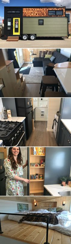 Teacup Tiny Homes. I like that it has good sized kitchen appliances, and a cough for more than 2!