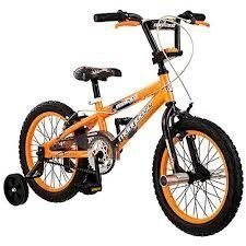 """16"""" Mongoose Mutant Boys' Bike by Mongoose. $169.99. An excellent first bike, the Mongoose Mutant Bike for boys is perfect for your little BMXer-in-training. This Mongoose Bike features a durable steel frame, steel handlebars and 26-spoke color-matched wheels. Training wheels are included to help him learn how to ride. Equipped with a coaster brake and dual caliper brakes, this 16"""" bike teaches him how to stop with levers or the pedals. The Mongoose Mutant Bike for Boys ..."""