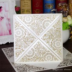 Elegant Laser Cut Hollow Flora Flower Wedding Invitations Greeting Cards Birthday Party Invite Paper Craft Cw520 Wedding Invitation Paper Wedding Invitation Printing From Allensue, $0.85| Dhgate.Com