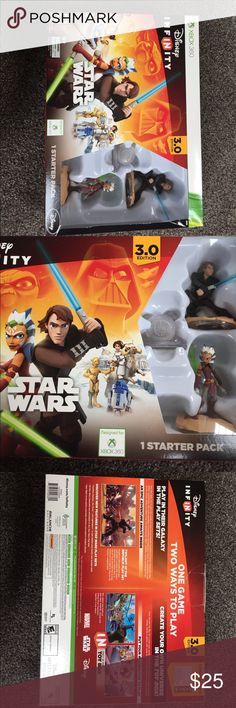 New XBox 360 Disney Infinity 3.0 Star Wars  Pack New, sealed and never opened nor used, Disney Infinity Star Wars Starter Pack for Xbox 360 3.0 Edition. Disney Other