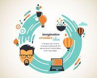 Design, creative, idea and innovation concept Stock Image