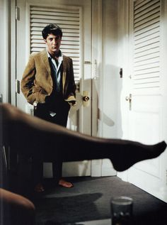 """Dustin Hoffman as Ben Braddock in """"The Graduate"""" (1967)"""