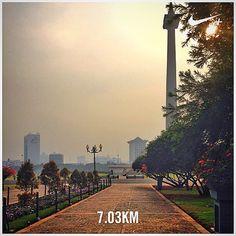 #nikeplus #morning #myrun #goodmorning #morningrun #instarun #instarunner #monas #jogging #joggingtrack #jakarta #menteng #indonesia