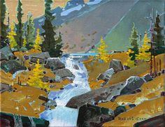 Opabin Creek, Yoho Park is a painting created by Robert Genn in Find out more at Mayberry Fine Art. Canadian Painters, Canadian Artists, New Artists, Impressionist Landscape, Abstract Landscape, Landscape Paintings, Landscapes, Art Brut, Art Impressions