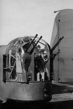 georgy-konstantinovich-zhukov: The Browning machine guns in the rear turret of the Whitley bomber was quite unique at the time of the planes debut, a stronger rear defense than any other bomber in service at the time. (Collection of Philip Moyes) Air Force Aircraft, Ww2 Aircraft, Military Aircraft, Gun Turret, Sniper Training, Lancaster Bomber, Ww2 Photos, Military Equipment, Royal Air Force