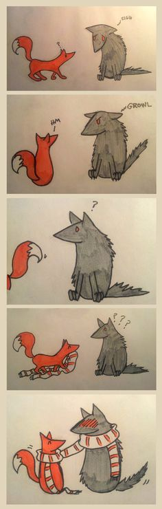 How to make Friends with a Sour Wolf by AskoII.deviantart.com on @deviantART