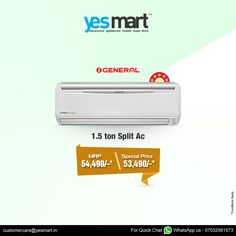 Beat this Summer's Heat with Latest #Technology '3Star Rated & Energy Saving' #Airconditioners from Top Brands. Visit your nearset #YesMart Store to Grab these AC's before the offer period ends. So… Hurry! For more info Visit – www.yesmart.in