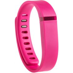 Fitbit Pink Flex Wireless Wristband ($60) ❤ liked on Polyvore featuring accessories, electronics, filler and pink