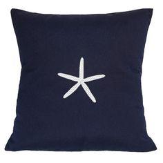 Nantucket Bound Sunbrella Lumbar Pillow With Embroidered Starfish & Reviews | Wayfair