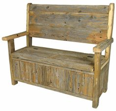 Rustic Old Wood Storage Bench... Could This Possibly Be A Diy Project? |  Diy / How To | Pinterest | Wood Storage Bench, Wood Storage And Storage  Benches