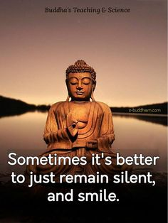 """Sometimes it's better to just remain silent, and smile."""