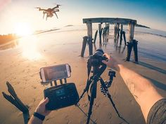 DOUBLE TAP if you have ever had to perform the job of multiple people while out shooting.  : #DronePhoto by @stevejenness. #prop4drones #dronestagram #dronelife #dronedaily #drone #3dr #photographyislife #gopro #fly3dr #aerialshot #drones #uav #create #repost #goprodrone #camera #dronepilot #dronegear #3drsolo #quadcopter #photography