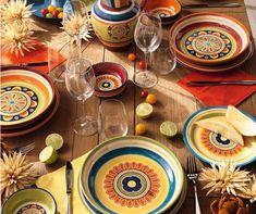 Colorata e resistente in ironstone, un materiale simile al grès adatto sia a lavastoviglie che microonde. Table Settings, Table Top Decorations, Place Settings, Dinner Table Settings, Setting Table