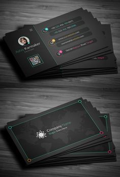 Business cards is the most important part of corporate Branding. Here are some creative and high quality business card templates design, fully editable, Business Cards Layout, Professional Business Card Design, Luxury Business Cards, Business Card Psd, Unique Business Cards, Business Design, Corporate Design, Business Ideas, Graphisches Design