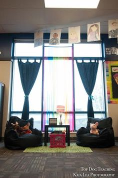 """It's been my dream to make my 2nd grade classroom look more like a """"Starbucks for kids"""", and less like, well, a classroom. Think about when you go to Starbucks to complete some work. Why do you choose to work there? Where do you choose to sit? I usually gravitate towards the comfy seating c"""