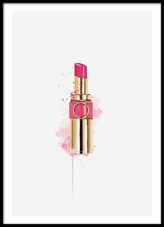 Fashion Lipstick, poster in the group Posters and prints at Desenio AB - Makeup Ideas Bottle Drawing, Bottle Painting, Poster Pictures, Print Pictures, White Picture Frames, Nice Picture, Picture Wall, Wall Prints, Poster Prints